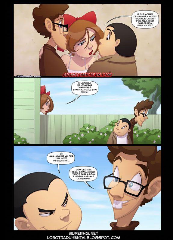 Angel Pie: Cartoon pornô onde temos um nerd que vive sonhando acordando que vai comer a gostosa da professora